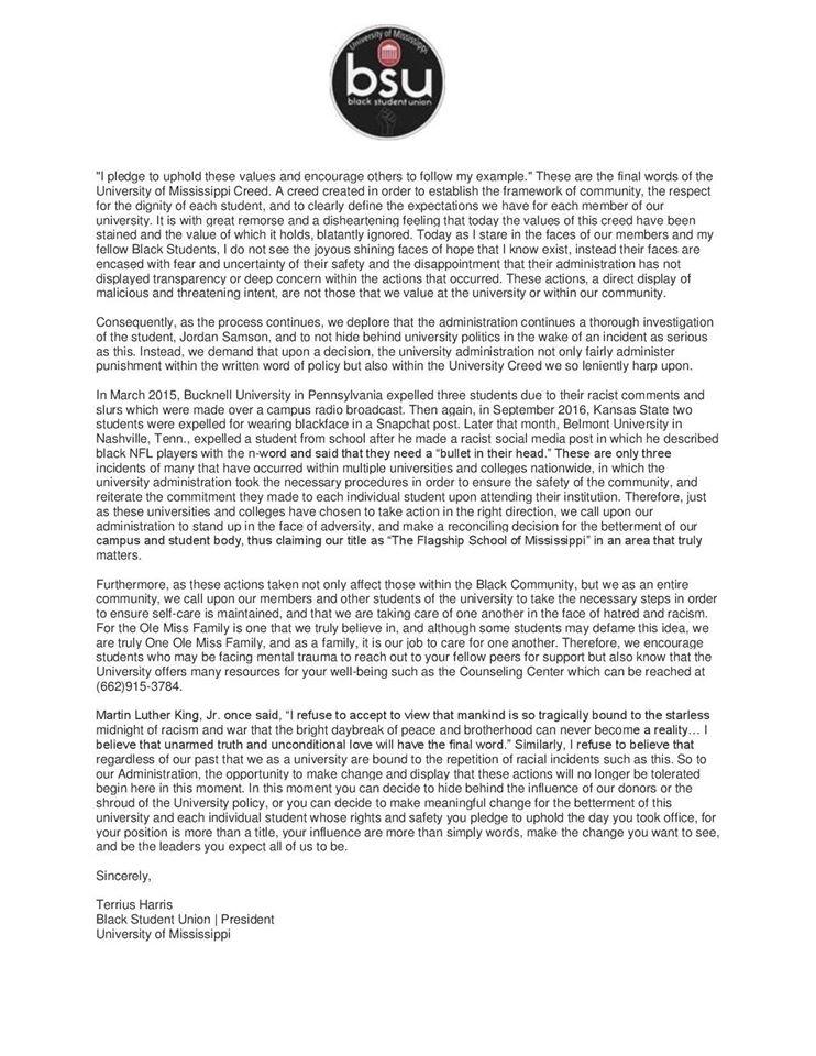 9-23-16 President Statement